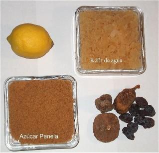 Ingredientes para bebida de tibicos (kefir de agua)
