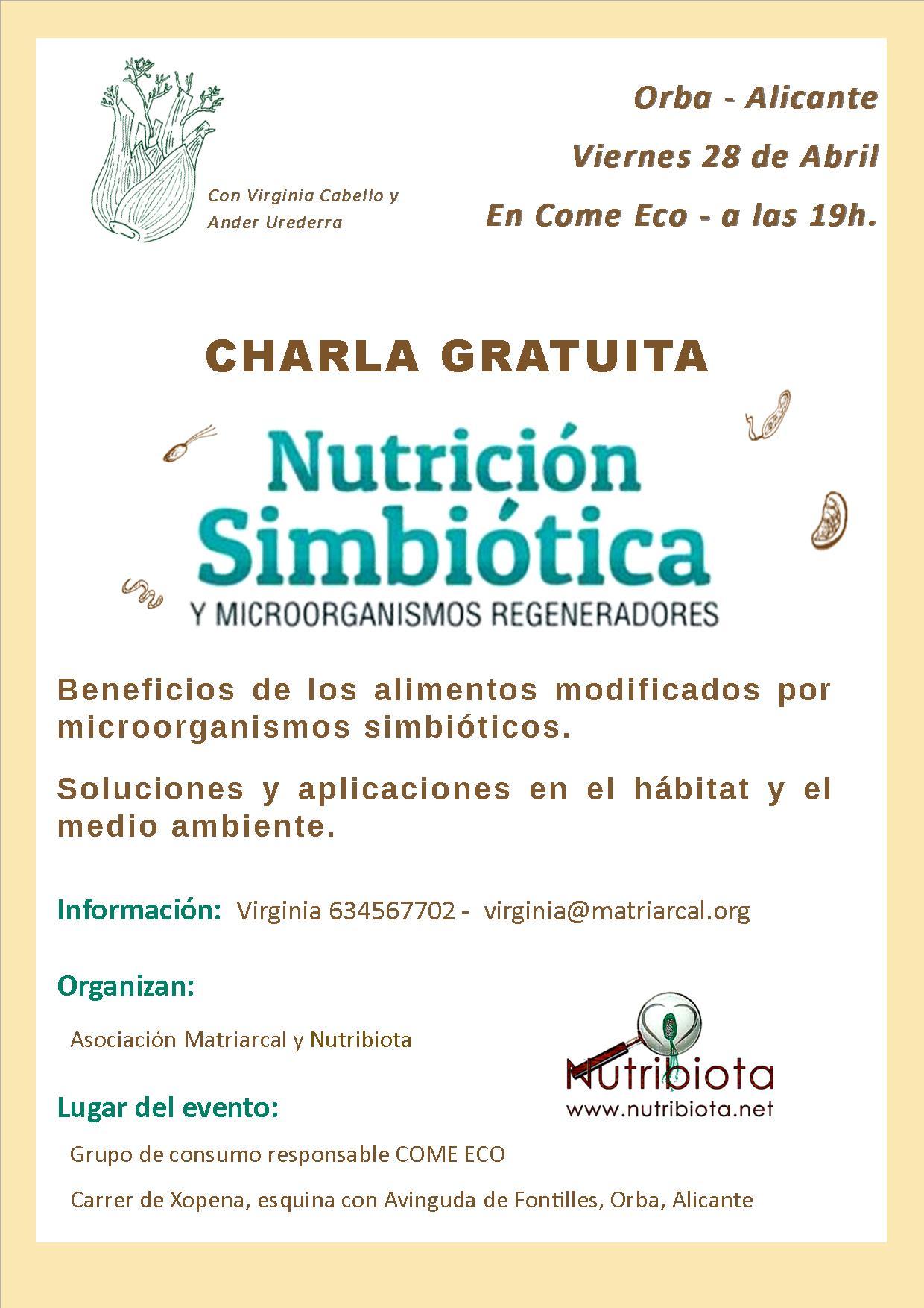 cartel charla nutribiotica
