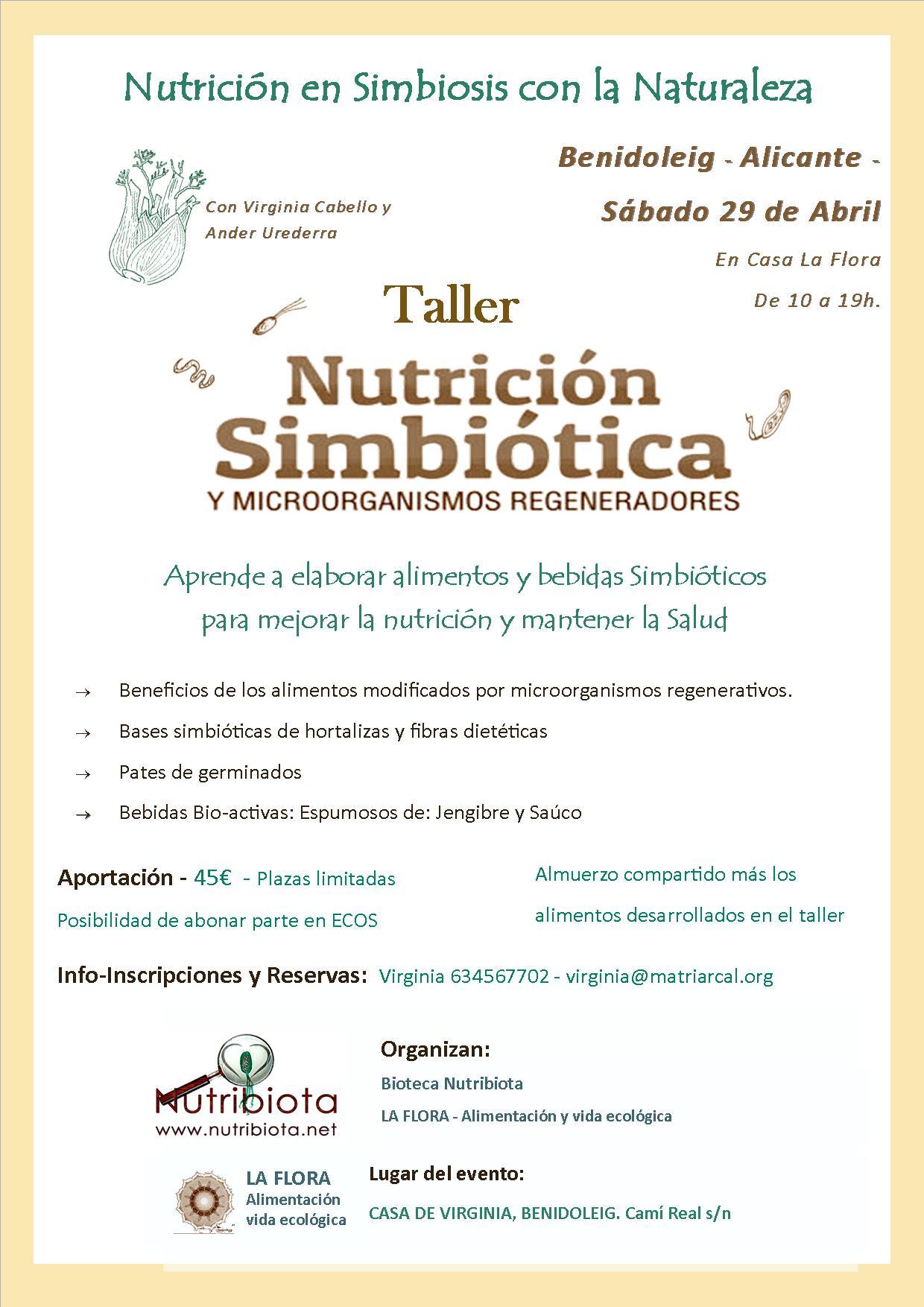 cartel taller nutribiotica