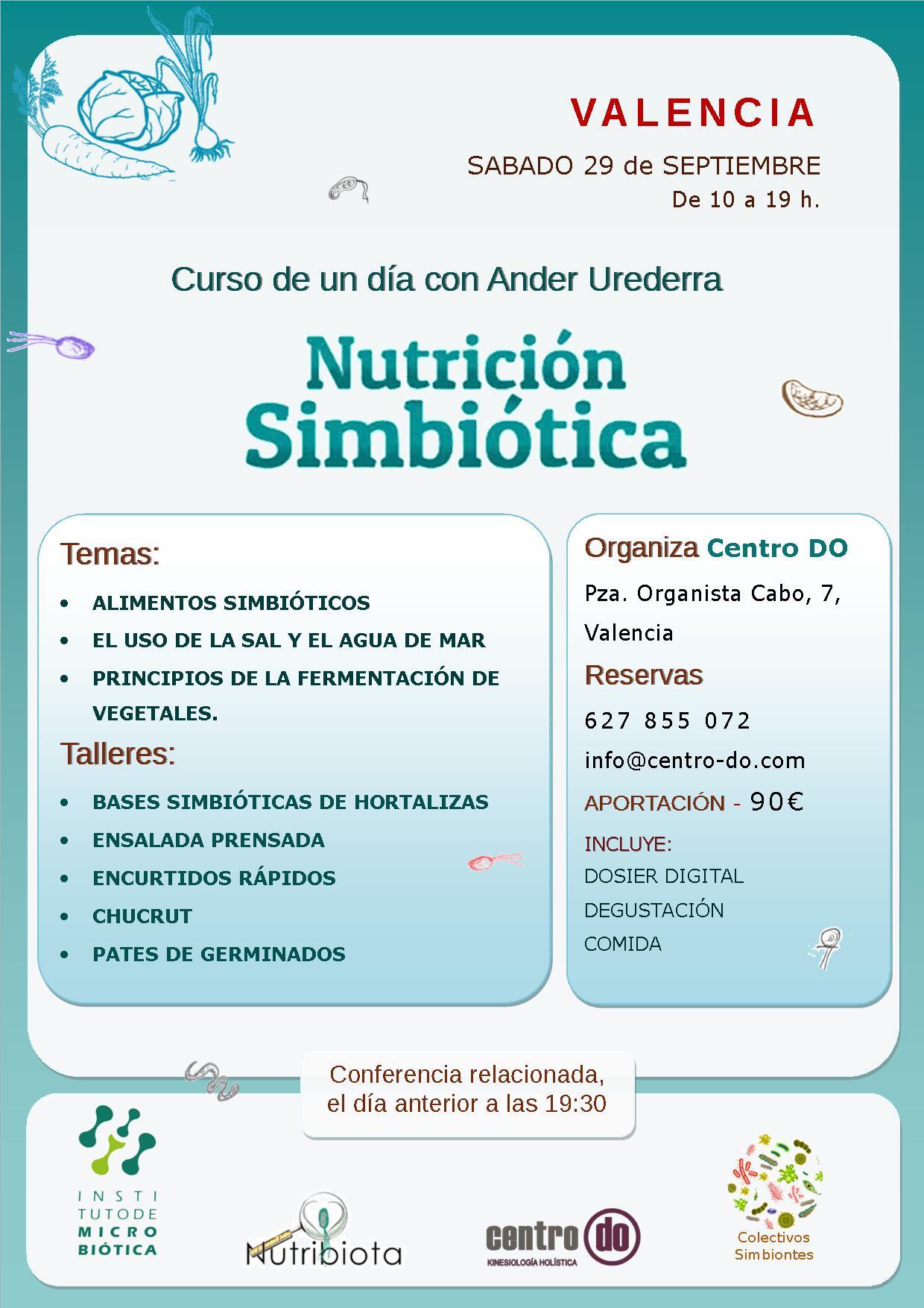 CURSO DE NUTRICIÓN SIMBIÓTICA DE UN DÍA @ Centro Do