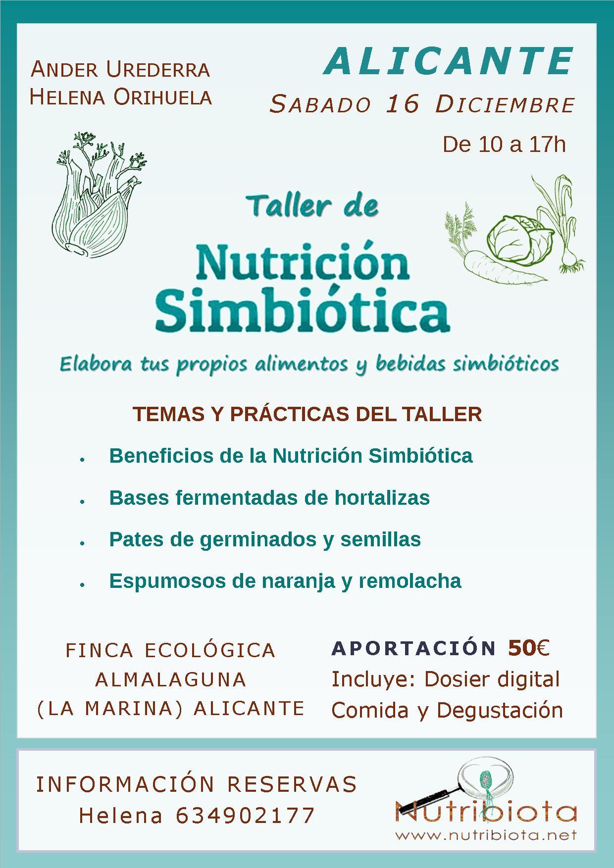 Taller de Nutrición Simbiótica en Alicante @ Casa ecológica AlmaLaguna | La Marina | Comunidad Valenciana | España